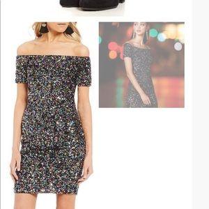 NWT Gianni Bini Zoe Confetti Off Shoulder Dress 4